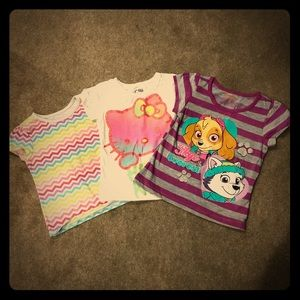 Three for One Deal! Girls 3T Graphic Tees
